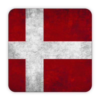 Костер (подставка под кружку) Датский флаг