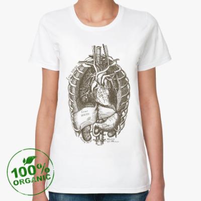 Женская футболка из органик-хлопка Внутренние органы