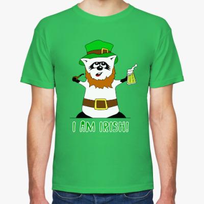 Футболка Енот 'I am Irish!'