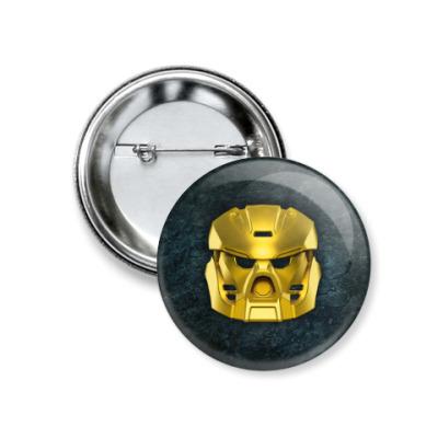 Значок 37мм Золотая маска Таху