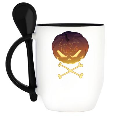 Кружка с ложкой Halloween
