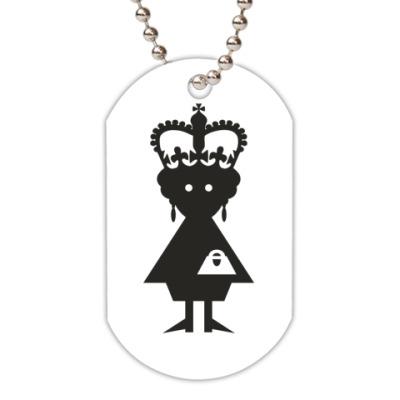 Жетон dog-tag Королева Елизавета