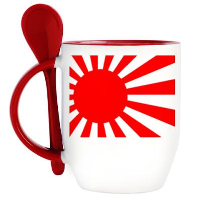 Кружка с ложкой Japan