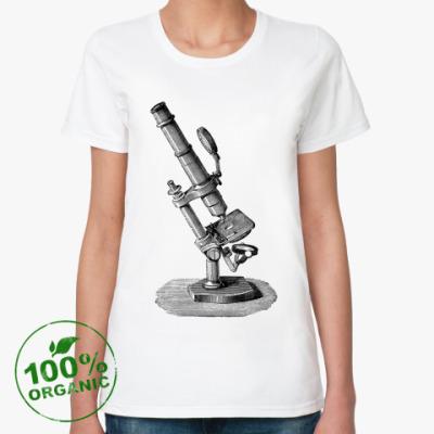 Женская футболка из органик-хлопка микроскоп