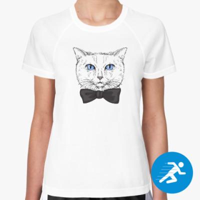 Женская спортивная футболка Hipster Cat