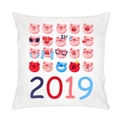 Подушка Год свиньи 2019