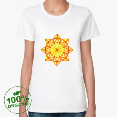 Женская футболка из органик-хлопка Мозаичное солнце