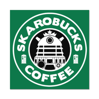 Наклейка (стикер) Skaro Coffee DOCTOR WHO Dalek