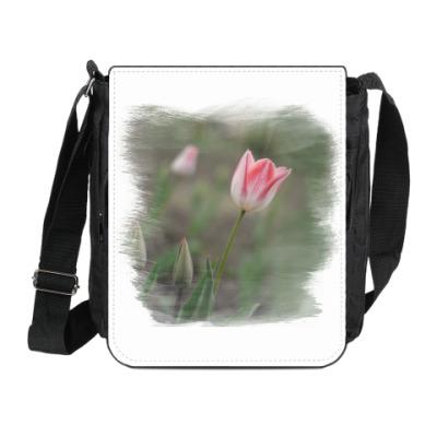 Сумка на плечо (мини-планшет) Апрельский тюльпан