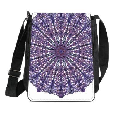 Сумка-планшет узор мандала,Ажур,кружево,lace,восточный,орнамент