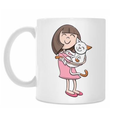 Кружка Girl & Kitty