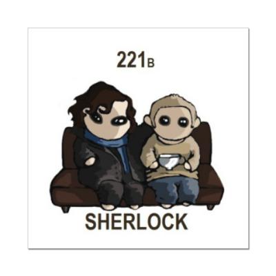 Наклейка (стикер) Sherlock