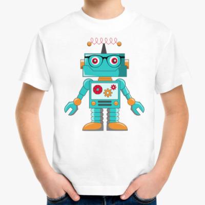 Детская футболка Робот хипстер