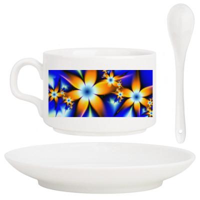 Кофейный набор цветы