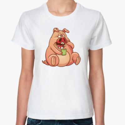 Классическая футболка Fat Pig