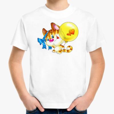 Детская футболка КОТЁНОК С ШАРИКОМ