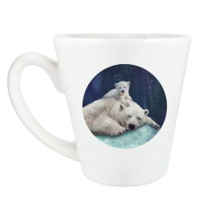 Чашка Латте Полярные белые медведи