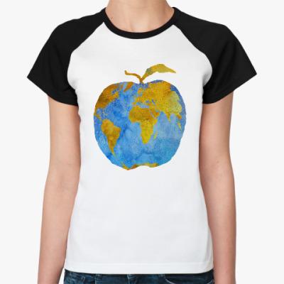 Женская футболка реглан Apple Earth