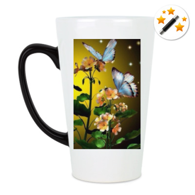 Кружка-хамелеон цветы фэнтези
