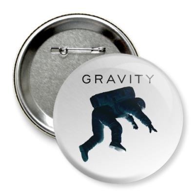 Значок 75мм Gravity