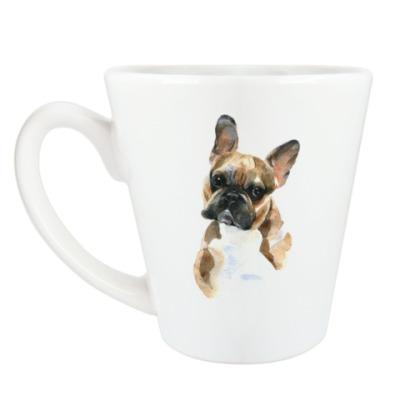 Чашка Латте Французский бульдог