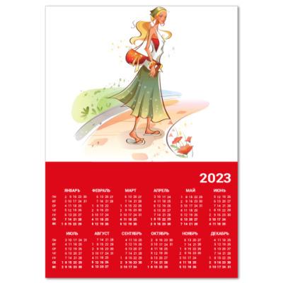 Календарь  A4 Девушка №10*11