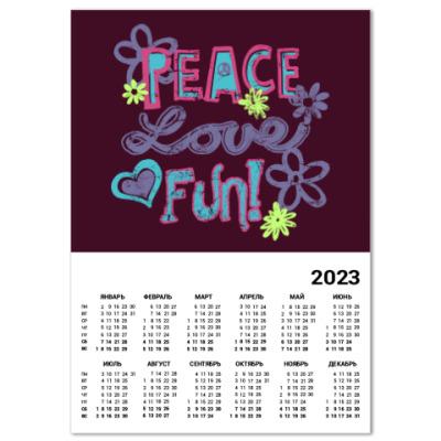 Календарь Мир, Любовь, Веселье!