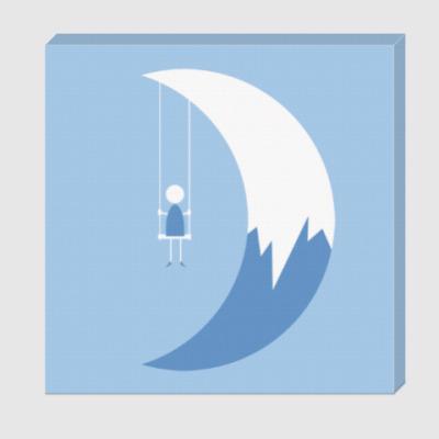 Холст Качели на Луне