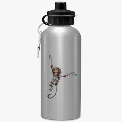 Спортивная бутылка/фляжка Обезьянка Космонавт