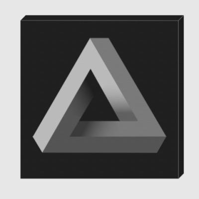 Холст Невозможный Треугольник 3D