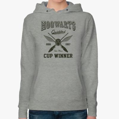 Женская толстовка худи Hogwarts Quidditch Cup Winner