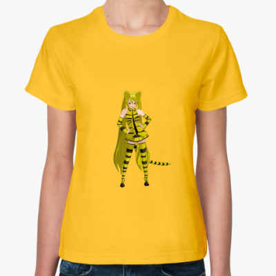 Женская футболка ТигроМику Хацуне