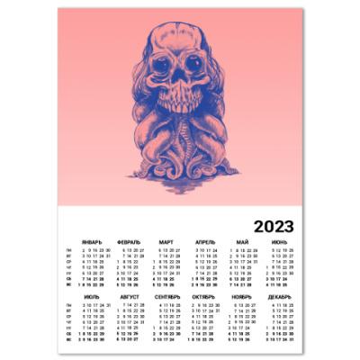 Календарь Череп со щупальцами