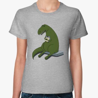 Женская футболка  Тираннозавр-соня