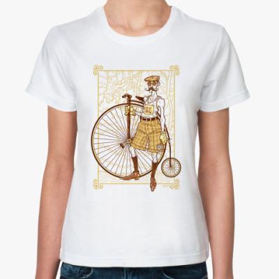 Классическая футболка Ретро Велосипедист