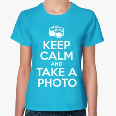 Женская футболка Делай фотки