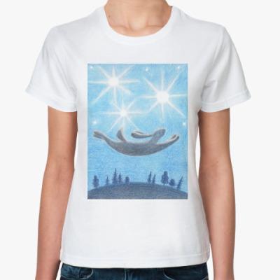 Классическая футболка Летающий заяц