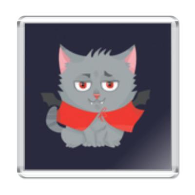Магнит Кот вампир
