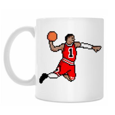 Кружка Восьмибитный баскетболист