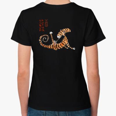 Женская футболка Чужой Котик
