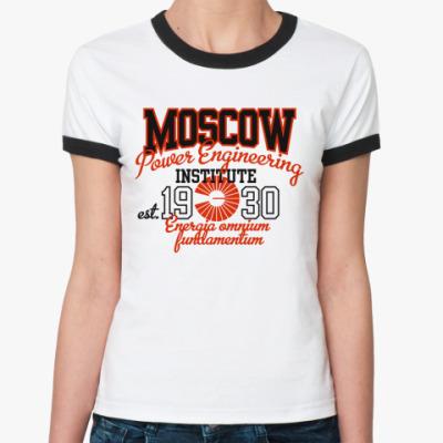Женская футболка Ringer-T  МЭИ - MPEI