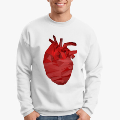 Свитшот Сердце 3D