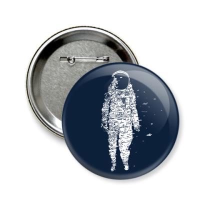 Значок 58мм Космонавт