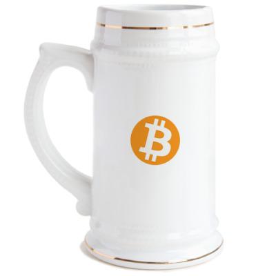 Пивная кружка  кружка Bitcoin