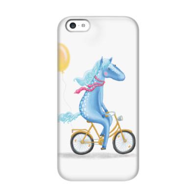 Чехол для iPhone 5c Лошадка на велосипеде