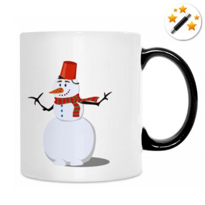 Счастливый снеговик
