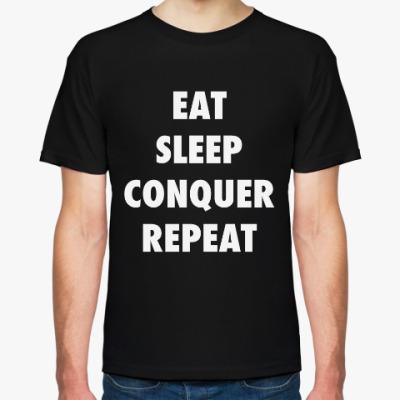 Футболка Brock Lesnar EAT SLEEP CONQUER REPEAT