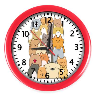 Настенные часы Смешные коты (funny cats)