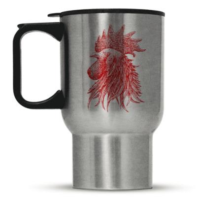 Кружка-термос Красный петух символ Года