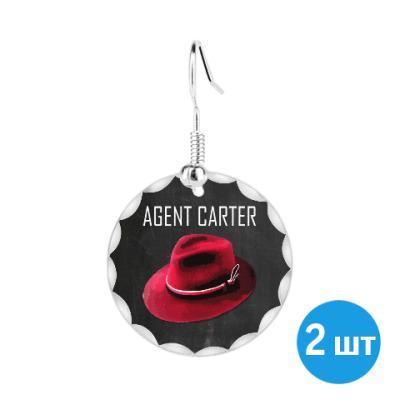 Серьги Agent Carter